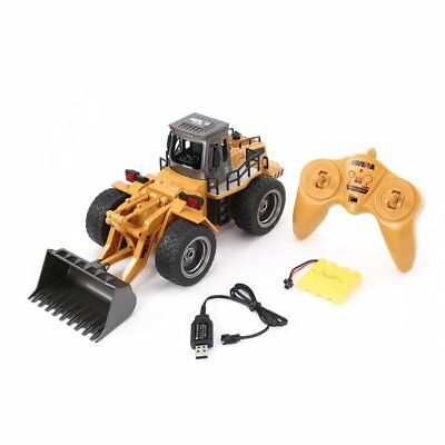HUINA 1520 6CH RC Metal Bulldozer 1/18 RTR Front Loader Engineering Toy VU