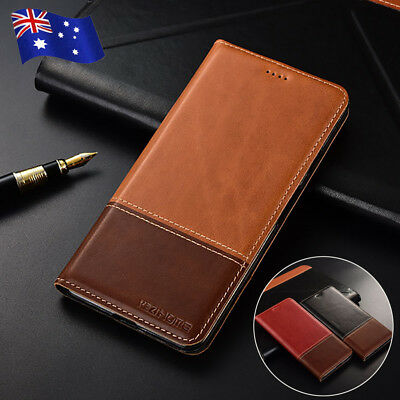 Genuine Leather Flip Wallet Stand Case Cover For iPhone Xs Max XR X 8 7 6S Plus