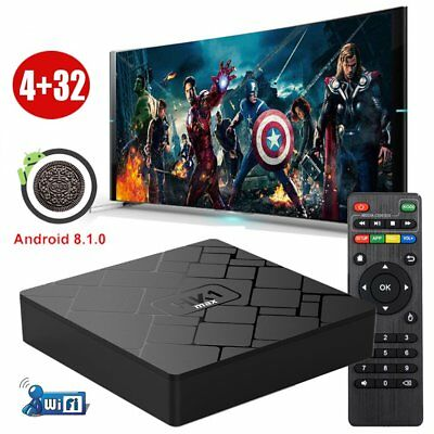4+32G Android 8.1.0 Oreo Quad Core Smart TV BOX 3D Sport USB 3.0 WIFI MINI PC DE
