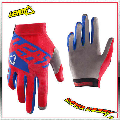 Guanto Glove Cross Enduro Quad Leatt Gpx 2.5 X-Flow Red Blue Taglia L