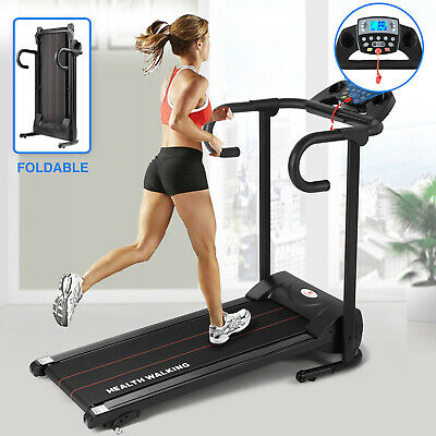Folding Electric Motorised Treadmill Running Machine Trainer W/ Safty Key