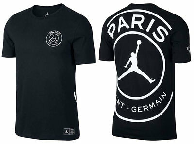 cfea7898c78d0b show comments Source · NIKE JORDAN X PSG BCFC SS Logo T Shirt Tee Top  Schwarz Black Paris L
