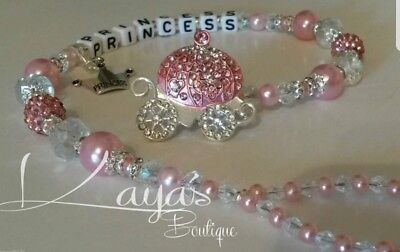 Bling *Diamante Princess Carriage* Shamballa Romany Dummy Clip *Any Name*