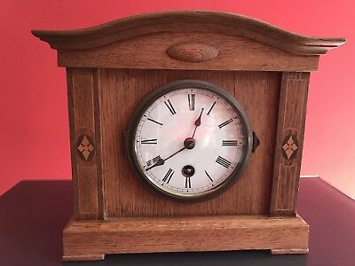 Mantel Clock (no chime), wooden case, very good condition, 8 day