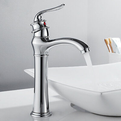 Tall Bathroom Taps Vintage Taps Basin Sink Mixer Chrome Monobloc Brass Faucet