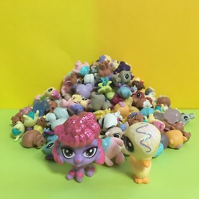 10pcs Littlest Pet Shop LPS Mini Baby Toy Send Random+ Swan & Dog Figure