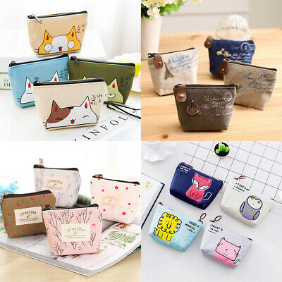 Women Coin Purse Case Wallet Card Holder Key Change Bag Mini Pouch Cute Cat Gift
