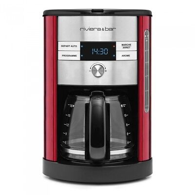 RIVIERA & BAR - CAFETIERE FILTRE DIGITALE INOX RUBIS -  - Rouge - dimensions : 2