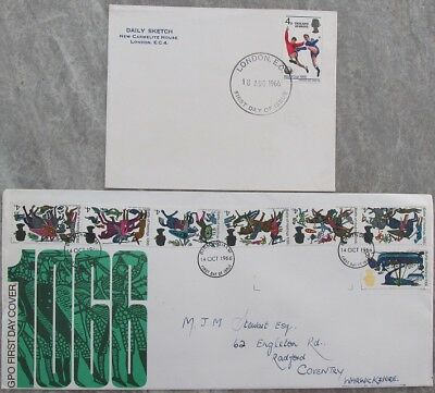 GB Stamps 2 First Day Covers from 1966