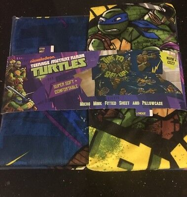 Teenage Mutant Ninja Turtles Kids Bedding Sheet Set Twin Size Boys Pillow Case