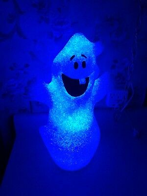 """16"""" Ghost Color Changing LED Halloween Lighted Night Light Spooky"""