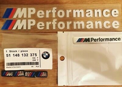 4x M Sport Performance Alloy Wheel Badge. 2x  Performance decal stickers