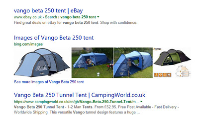 Vango Beta 250 Tent  sc 1 st  PicClick UK : tents ebay uk - afamca.org