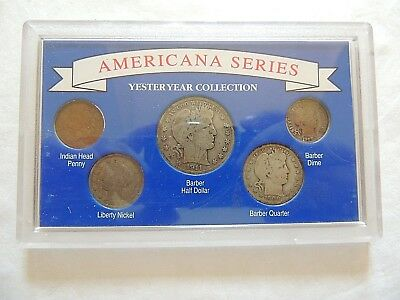 Americana Series Yesteryear Coin Collection In Lucite Display Case