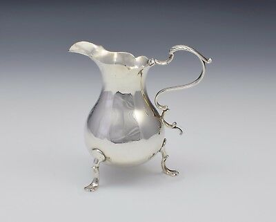 George II c.1750 Round Bellied Silver Cream Jug London Philip Goddard Georgian