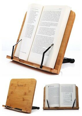 Book Wooden Stand Reading Tool Rest Holder Bookstand Bamboo Large Plate Board