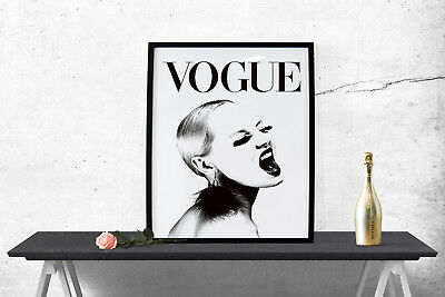 Decor Vogue Magazine Cover Art Print Poster Wall Art Classic Fashion Beauty-1574