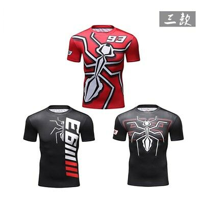 Marc Marquez 93 T-Shirt Ant Fashion Driving Motorcycle Racing Cartoon Cotton