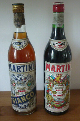 2 bouteilles anciennes MARTINI ROSSI bianco et rosso pour collection