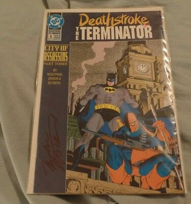Deathstroke the Terminator (1991) DC Comics SIGNED by Marv Wolfman