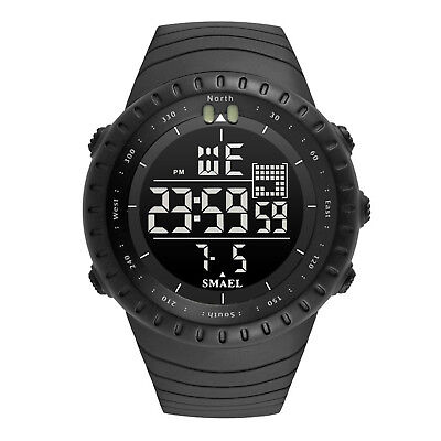 SMAEL Men's LED Digital Waterproof Watch Military Outdoor Tactical Sports Watch