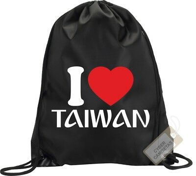 I Love Taiwan Mochila Bolsa Gimnasio Saco Backpack Bag Gym Taiwan Sport