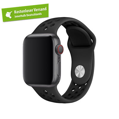 Apple Watch SERIES 4 (44mm) Nike Armband SCHWARZ / ANTHRAZIT | Nur Band