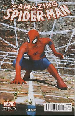 Amazing Spider-Man #1 Cosplay Variant Photo Cover Nmt 1St Print 1:15 Marvel 2015