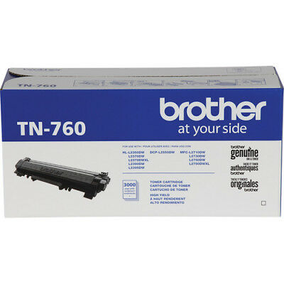 Brother genuine TN760 High Yield Black Toner Cartridge