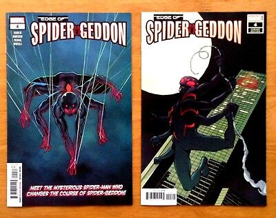 Edge of Spider-Geddon 4 Aaron Kuder Main Cover + Cully Hamner Variant Cover NM