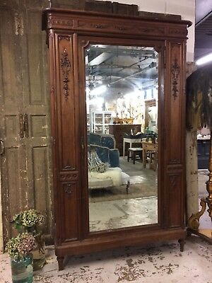 Stunning Walnut Carved French Antique Armoire Cupboards Wardrobes