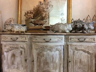 Beautiful French Oak Carved Antique Sideboard