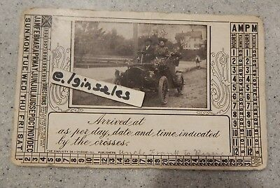Touring Informational Postcard With a Photo of a 1909 Automobile