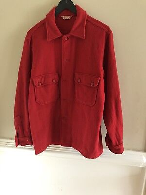 Vintage Wool BSA Boy Scouts Red Jacket Coat