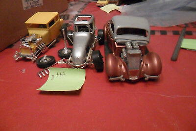 VINTAGE MONOGRAM, AMT ,JO-HAN  LOT OF 3  PARTS CARS  FREE SHIPPING lot 3750999