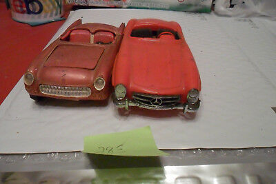 VINTAGE MONOGRAM, AMT ,JO-HAN  LOT OF 2  PARTS CARS  FREE SHIPPING lot 375095