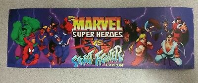 Marvel Vs. Street Fighter marquee sticker. 3x10. (Buy 3 stickers, GET ONE FREE!)