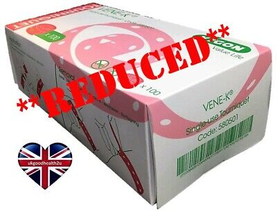 Tourniquet VYGON VENE-K Disposable Single-use *BOX of 100* NEW CE Certified