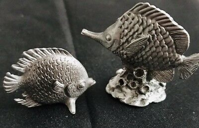 Solid Pewter ANGEL FISH Highly Detailed Figurine Statue