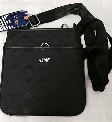 c2133b8001 MENS-ARMANI-JEANS-PERFORATED-SHOULDER-BAG-IN-BLACK-ONE-SIZE-FREE ...