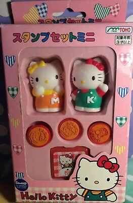 A Very Rare  Vintage Sanrio Hello Kitty Stamp Set From 1997 PreOwned Read