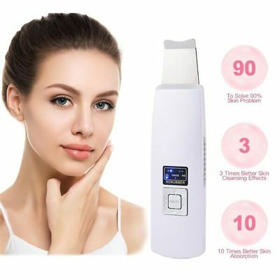 Facial Ultrasonic Ion Skin Peeling Blackhead Facial Massager Cleaner Scrubber MG