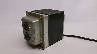 UK 240v to US 110v Step Down Transformer Converter Double Outlet