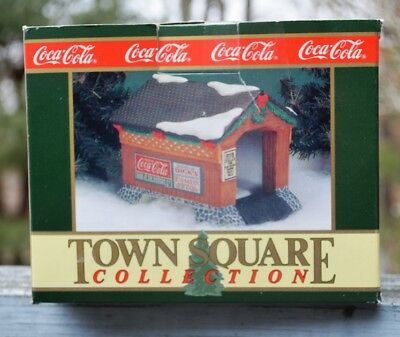 New 1993 Coca-Cola Town Square Collection-The Covered Bridge  (Retired)
