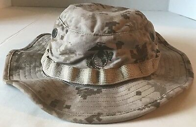 NEW W O TAGS USMC Desert MARPAT Combat Boonie Hat Genuine Issue Size ... 02a566334626