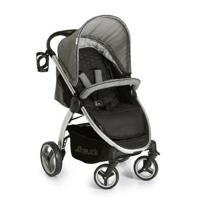 NEW Hauck Lift Up 4 One Hand Fold Buggy Pushchair Pram in Melange Grey+Raincover