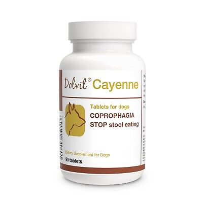 Dolvit Cayenne Coprophagia stop stool eating 90 tab Digestive Enzymes/Probiotics
