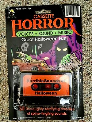 HORRIBLE SOUNDS OF HALLOWEEN: RARE VINTAGE 1980's HORROR SOUND EFFECTS  CASSETTE!