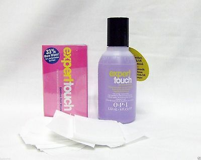 OPI Expert Touch Nail Polish/GelColor Remover 3.7oz (4)+ 325ct (4) Nail Wipes ~