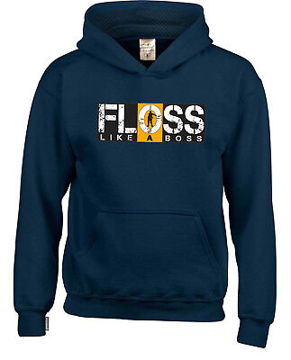 FLOSS LIKE A BOSS Kids Hooded Tops Available In Multiple Colours and Sizes.